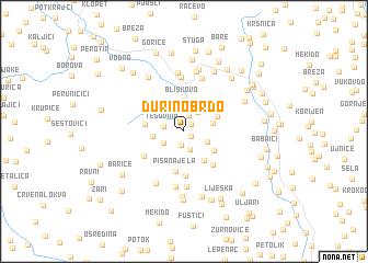 map of Ðurino Brdo