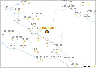 map of Dūrīsān