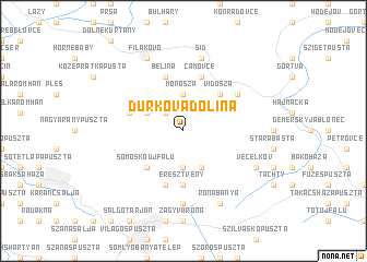 map of Ďurkova Dolina