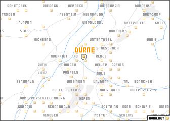 map of Dürne