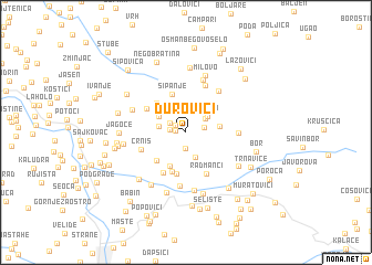 map of Durovići