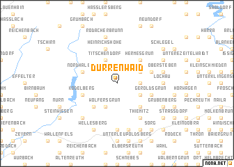 map of Dürrenwaid