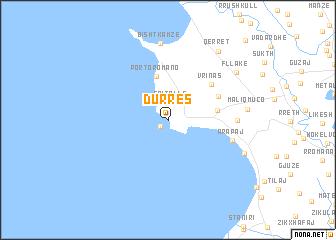 Durrs Albania map nonanet