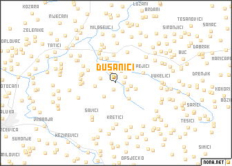 map of Dušanići