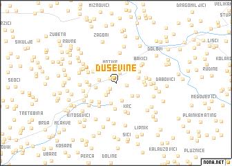 map of Duševine