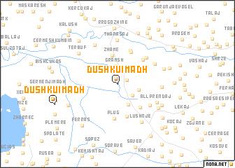 map of Dushku i Madh
