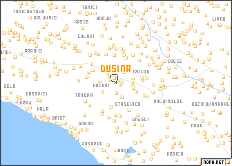 map of Dusina