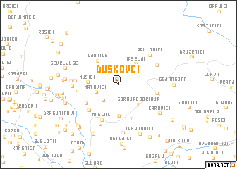 map of Duškovci