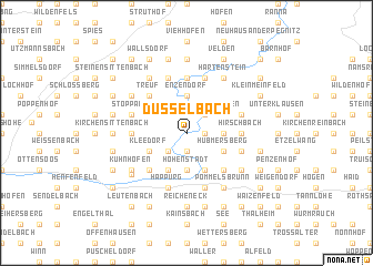 map of Düsselbach