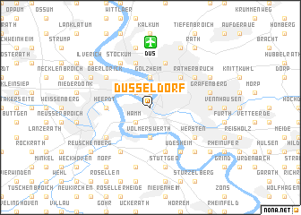 map of Düsseldorf