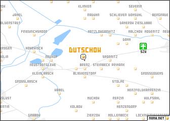 map of Dütschow