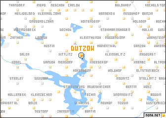 map of Dutzow
