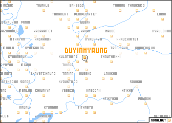 map of Duyinmyaung