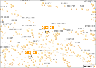 map of Dužice