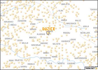 map of Dužice