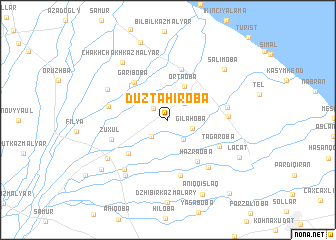 map of Düztahiroba