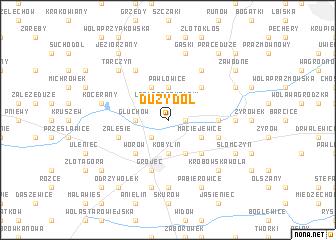 map of Duży Dół