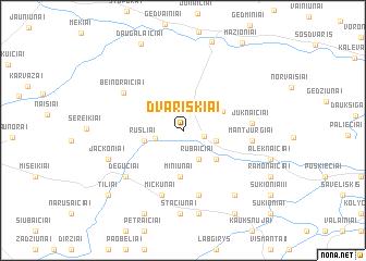 map of Dvariškiai