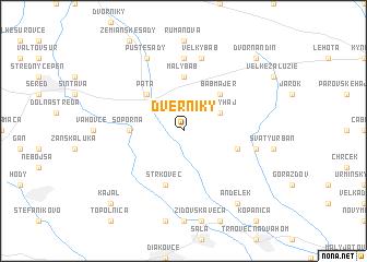 map of Dverníky