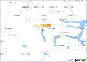 map of Dvirėžiai