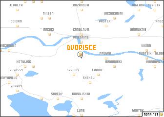 map of Dvorišče