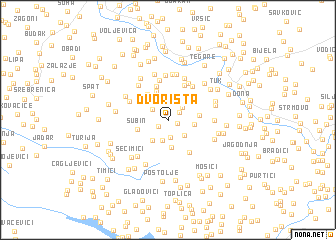 map of Dvorišta