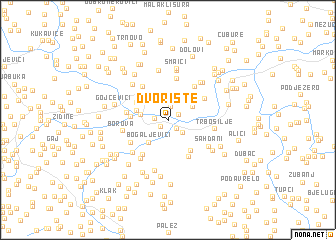 map of Dvorište