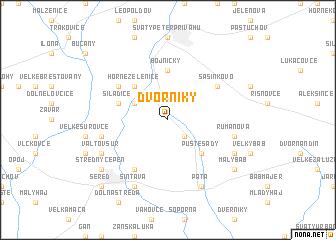map of Dvorníky