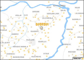 map of Dvorovi