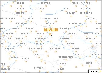 map of Dvyliai