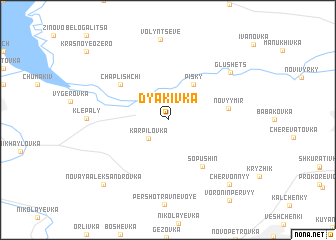 map of Dyakivka