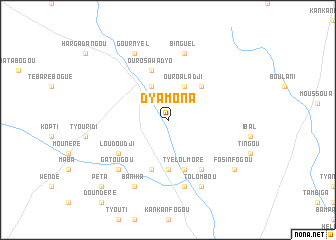 map of Dyamona