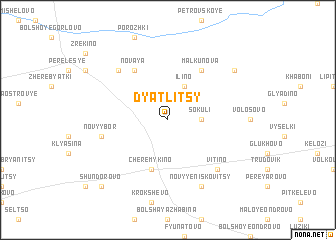 map of Dyatlitsy