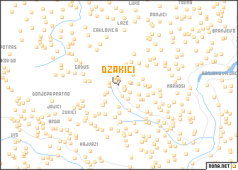 map of Džakići