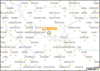 map of Dzbanki