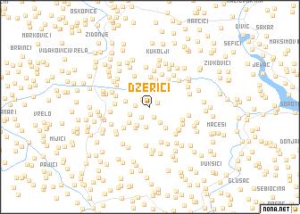 map of Džerići