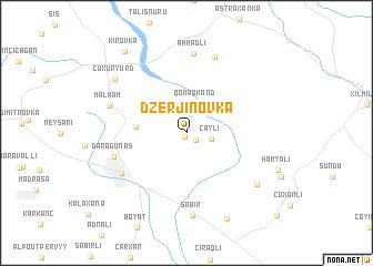 map of Dzerjinovka