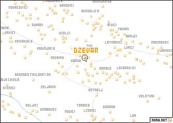 map of Dževar