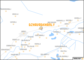 map of Dzhavadkhanly