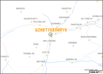 map of (( Dzhetygen-Aryk ))