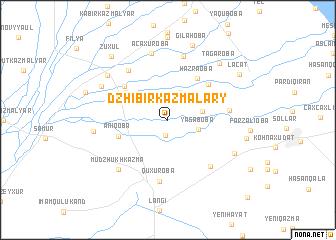 map of Dzhibir-Kazmalary