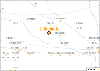 map of Dzhumaul