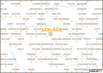 map of Dzielnica