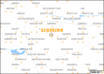 map of Dzierążnia