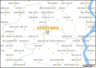 map of Dzierząino
