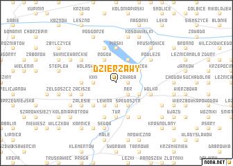 map of Dzierżawy