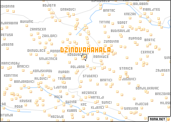 map of Džinova Mahala