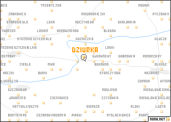 map of Dziurka