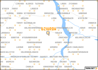 map of Dziurów