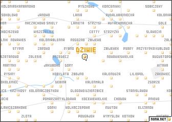 map of Dziwie